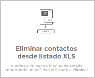 Eliminar contactos desde listado XLS