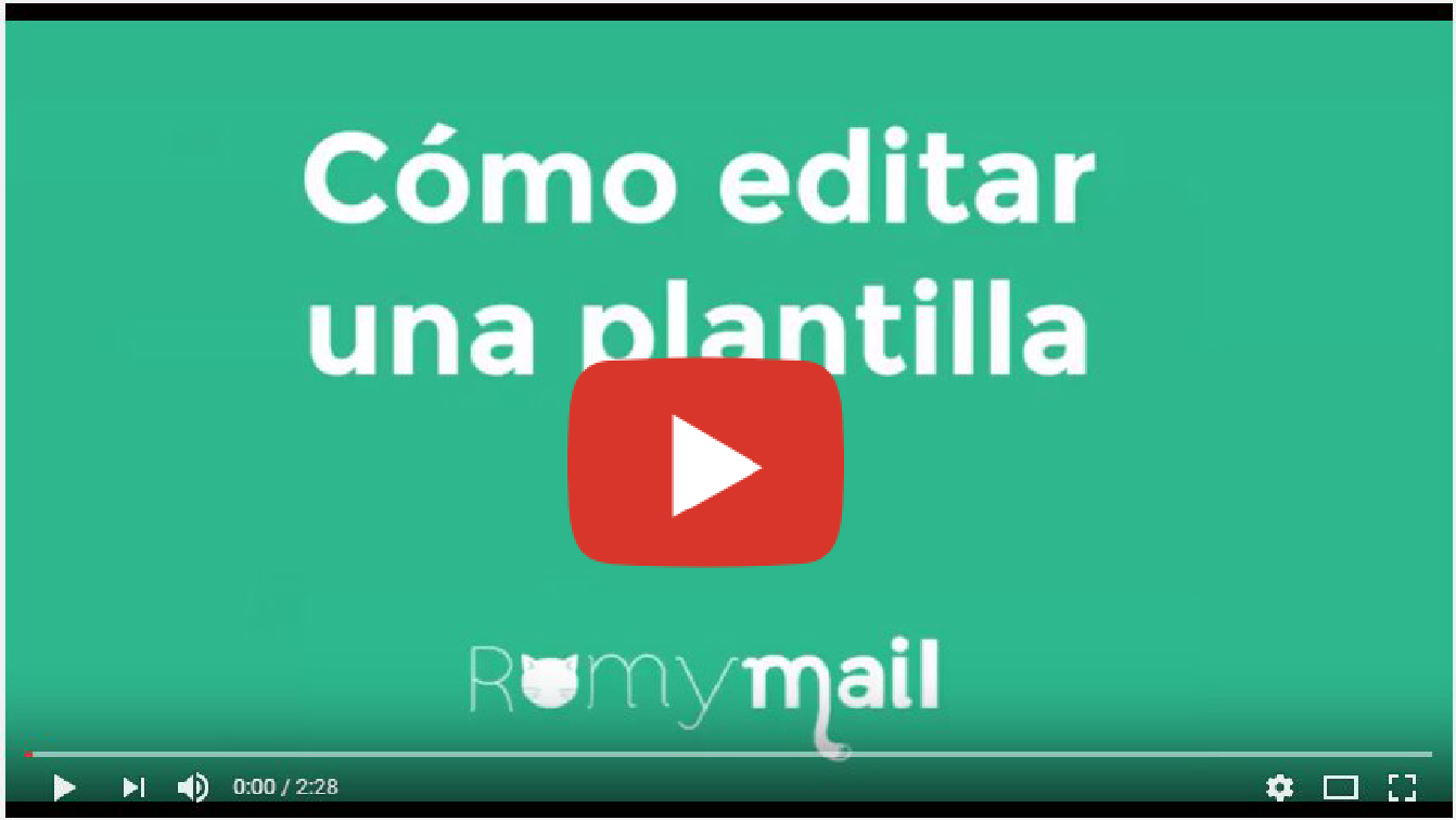 Vídeo Editar plantillas