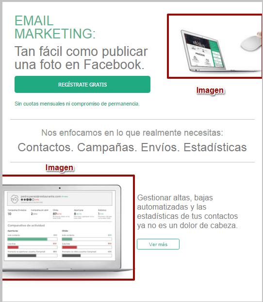 Ejemplo de campaña en HTML