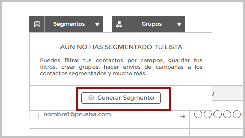 Generar segmentos