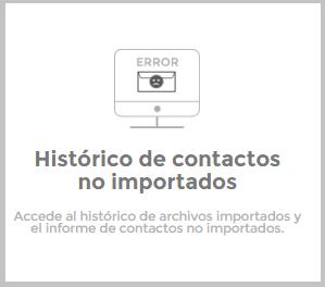 Hitórico de contactos no importados