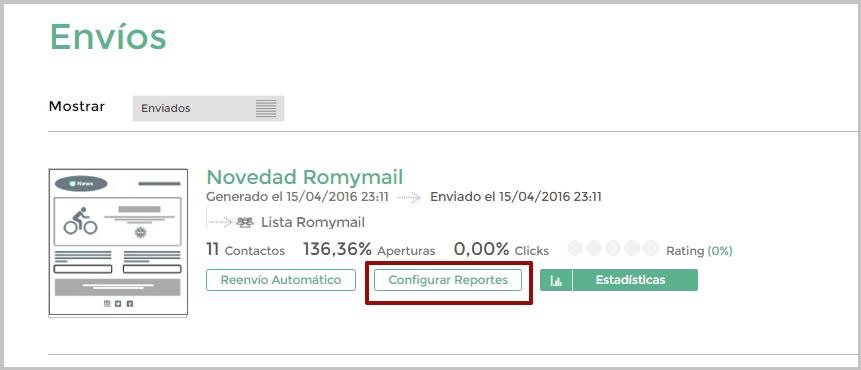 Acceder a Reportes automáticos