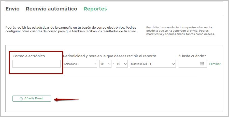 Configurar correo elctrónico para el envío de Reportes automáticos