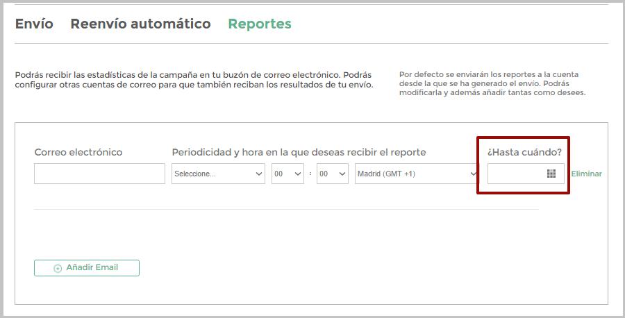 Hasta cuando quieres recibir reportes
