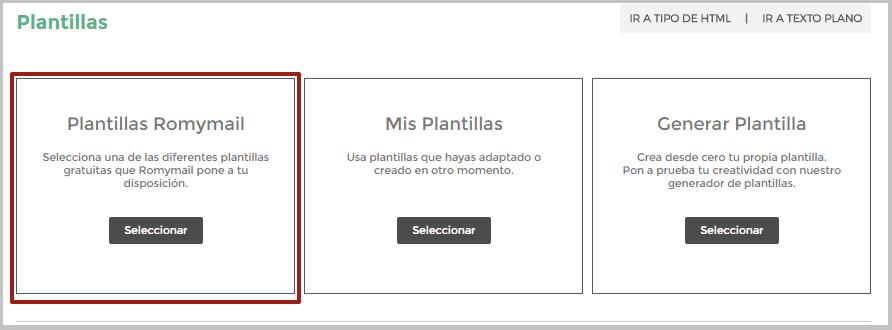 Plantillas Romymail